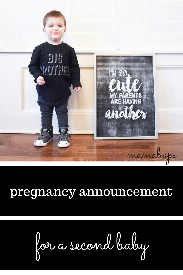Pregnancy Announcement For A Second Baby Mamabops